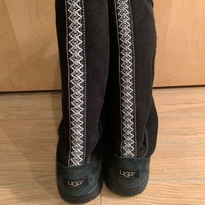 Used black Uggs with stitching down back 9